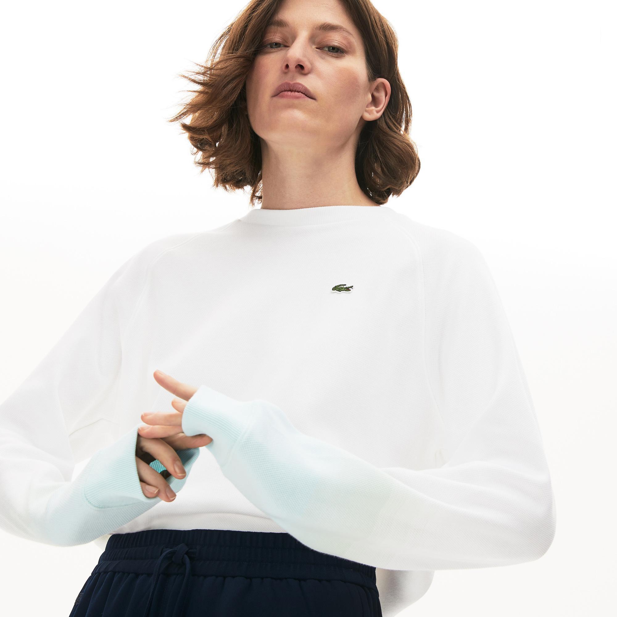 Lacoste Damska Bluza Z Organicznej Bawełniany Z Okrągłym Dekoltem Made İn France