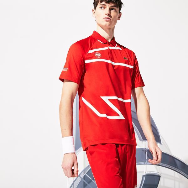 Lacoste Męska Sportowa Koszulka Polo Rolland Garros X Novak Djokovic