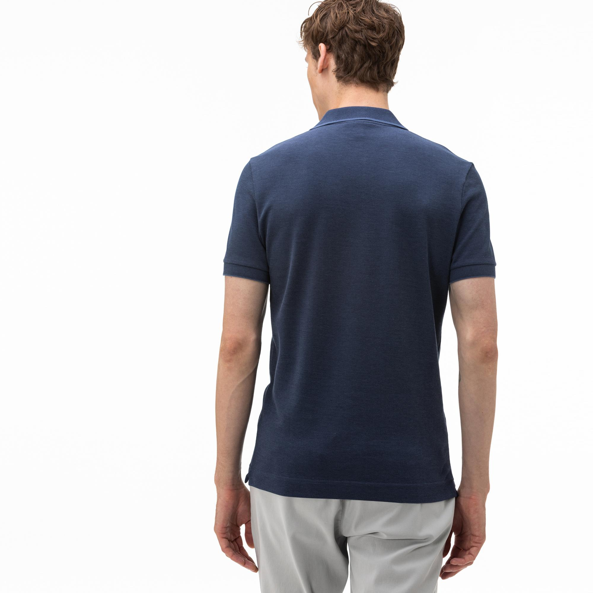 Lacoste Męska Koszulka Polo Z Bawełnianej Piki