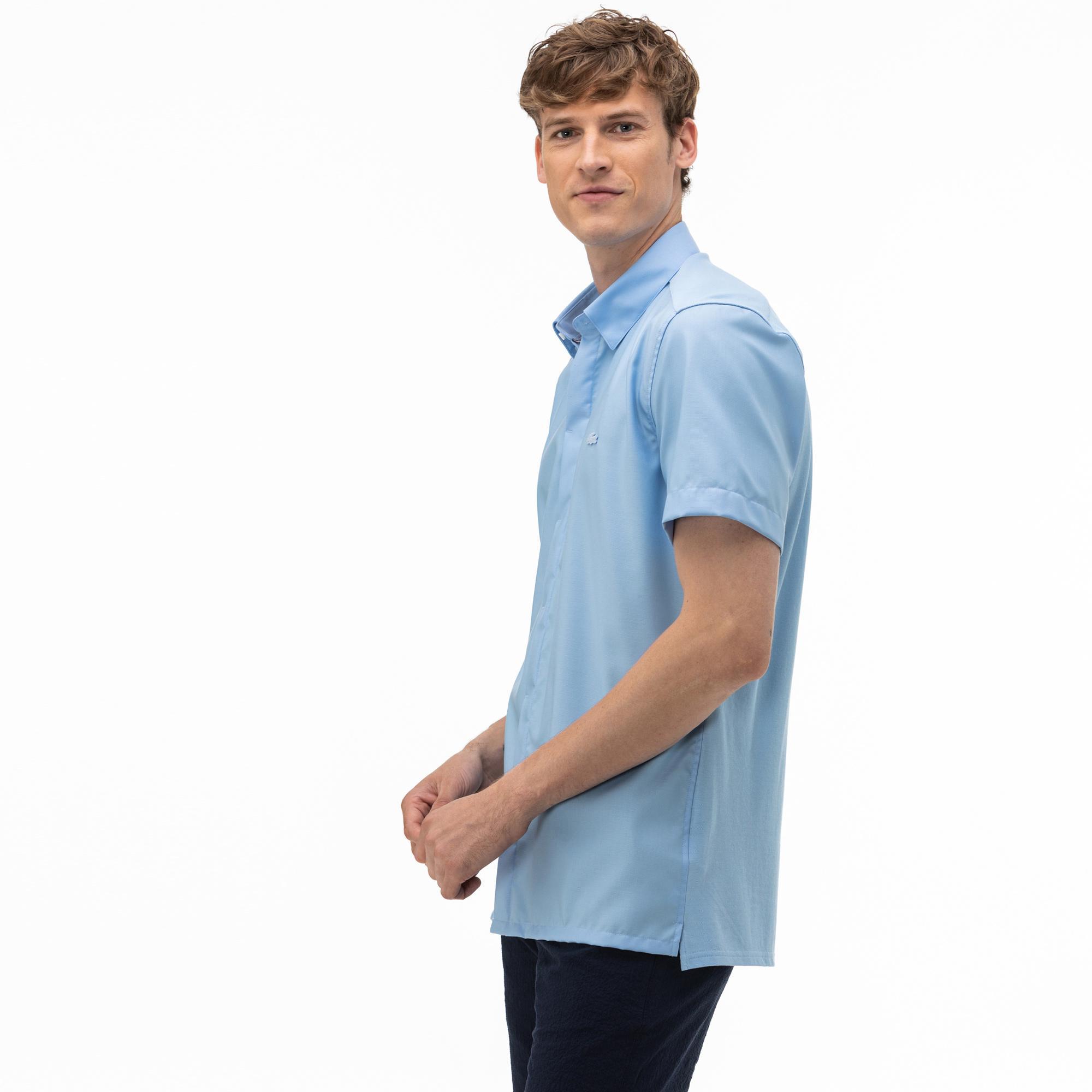 Lacoste Męska Koszula Slim Fit Z Krótkimi Rękawami