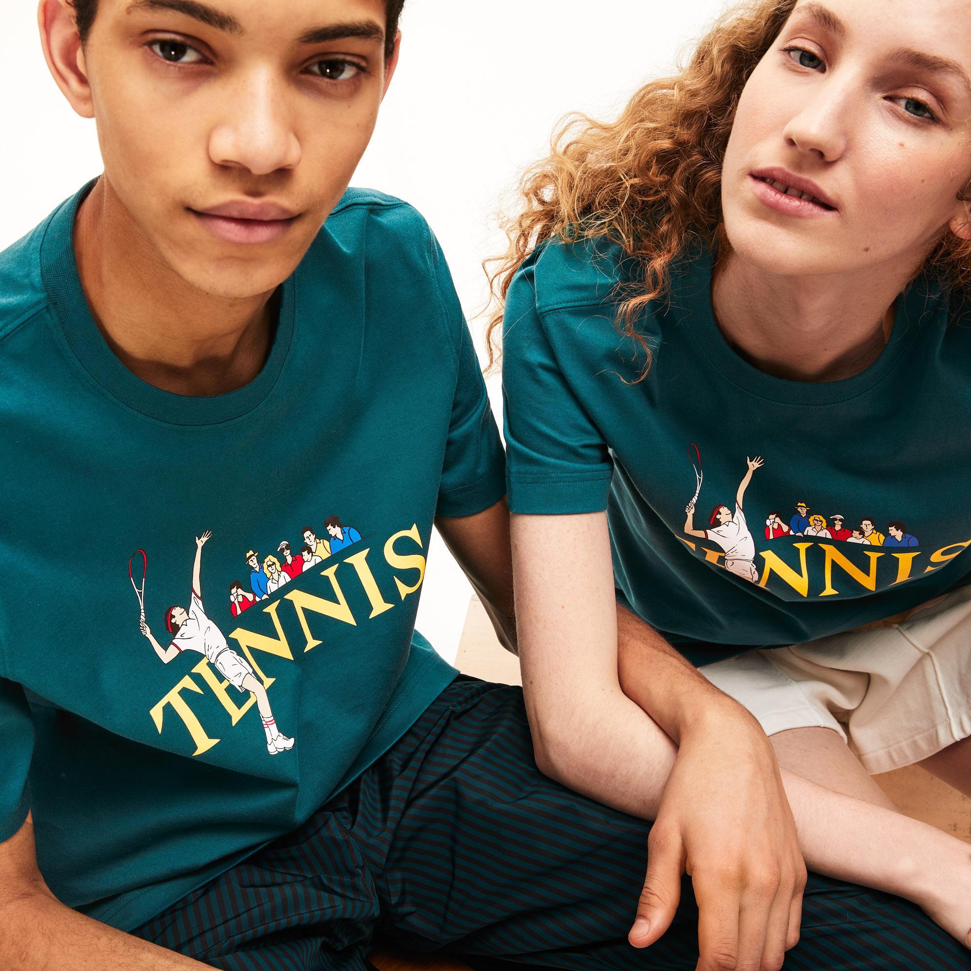 Lacoste LIVE Bawełniany T-Shirt Unisex Do Gry W Tenisa