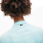 Lacoste Damski Bawełniany T-Shirt Z Nadrukiem Z Okrągłym Dekoltem
