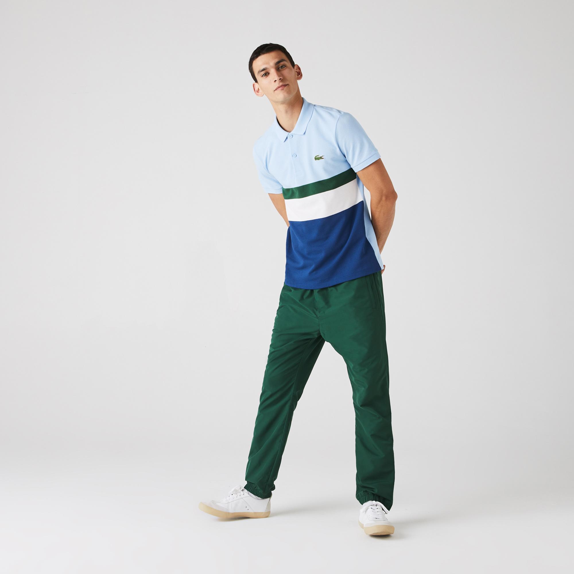 Lacoste Męska Koszulka Polo W Bloki Kolorystyczne Z Piki Bawełnianej Regular Fit