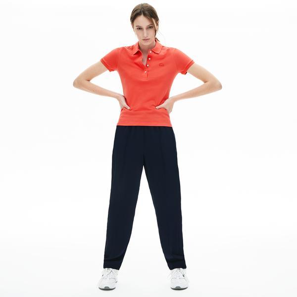 Lacoste Damska Koszulka Polo Z Elastycznej Bawełnianej Piki