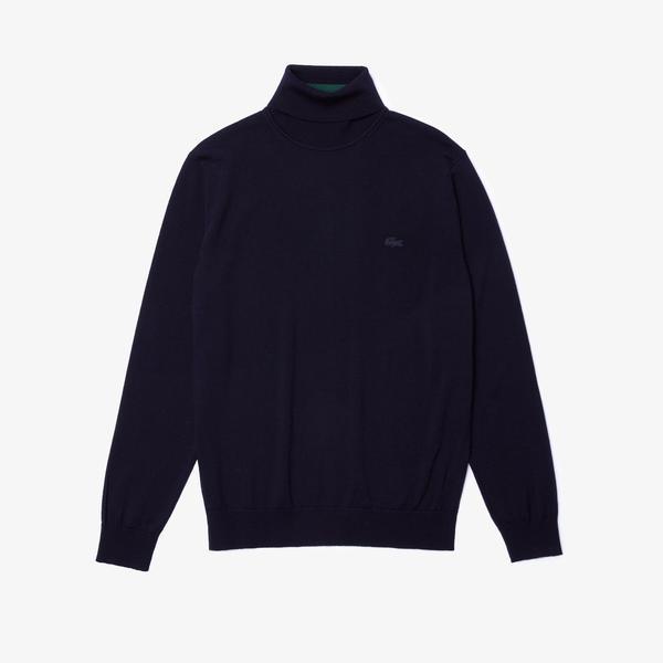 Lacoste Męski Sweter Typu Golf Z Wełny Merino