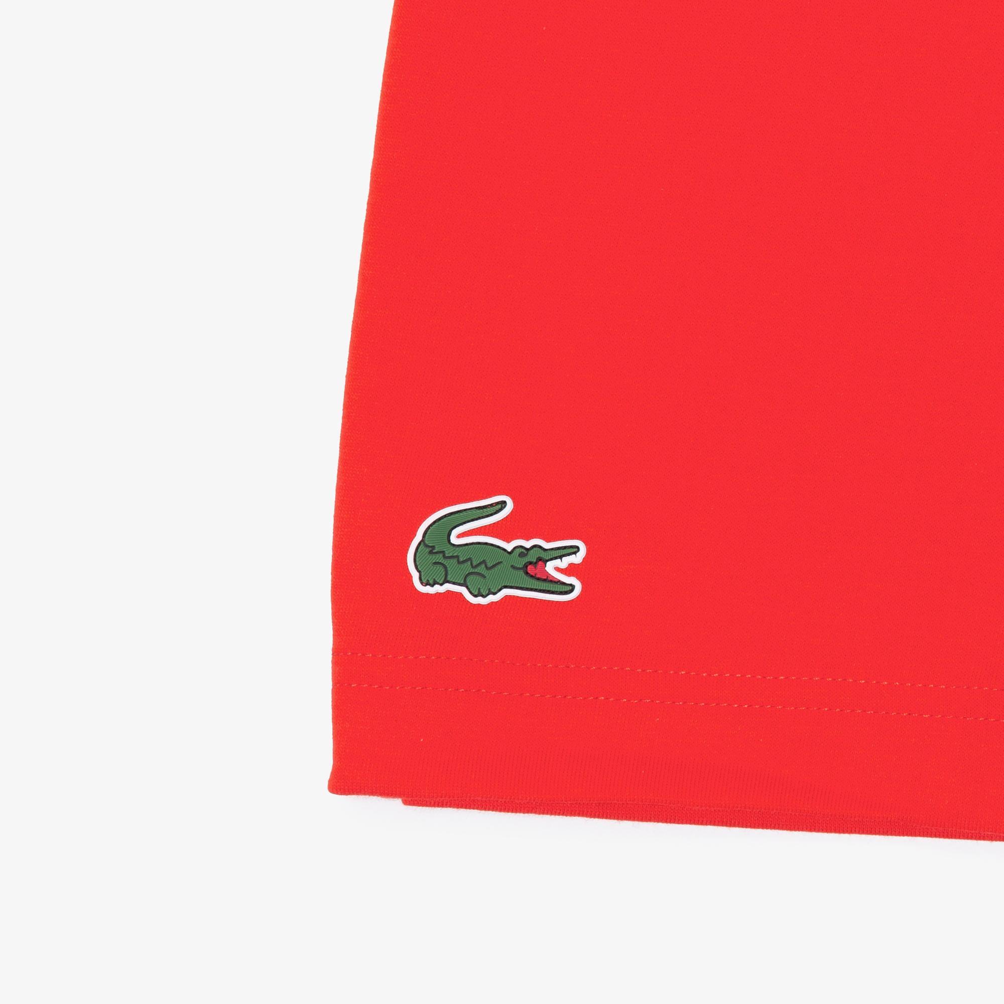 Lacoste Męski Sportowy T-Shirt Z Nadrukiem Krokodyla Z Oddychającego Materiału