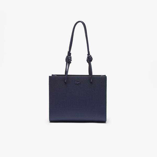 Lacoste Women's Chantaco Matte Piqué Leather Shoulder Slung Handbag