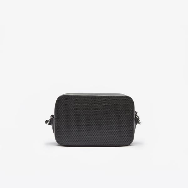 Lacoste Women's Chantaco Matte Piqué Leather Shoulder Bag