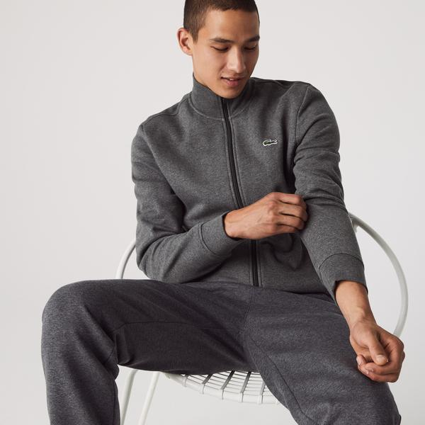 Lacoste Men's SPORT Cotton Blend Fleece Zip Sweatshirt