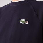 Lacoste Męska Bluza Z Okrągłym Wycięciem Pod Szyją Z Piki Z Bawełny Organicznej