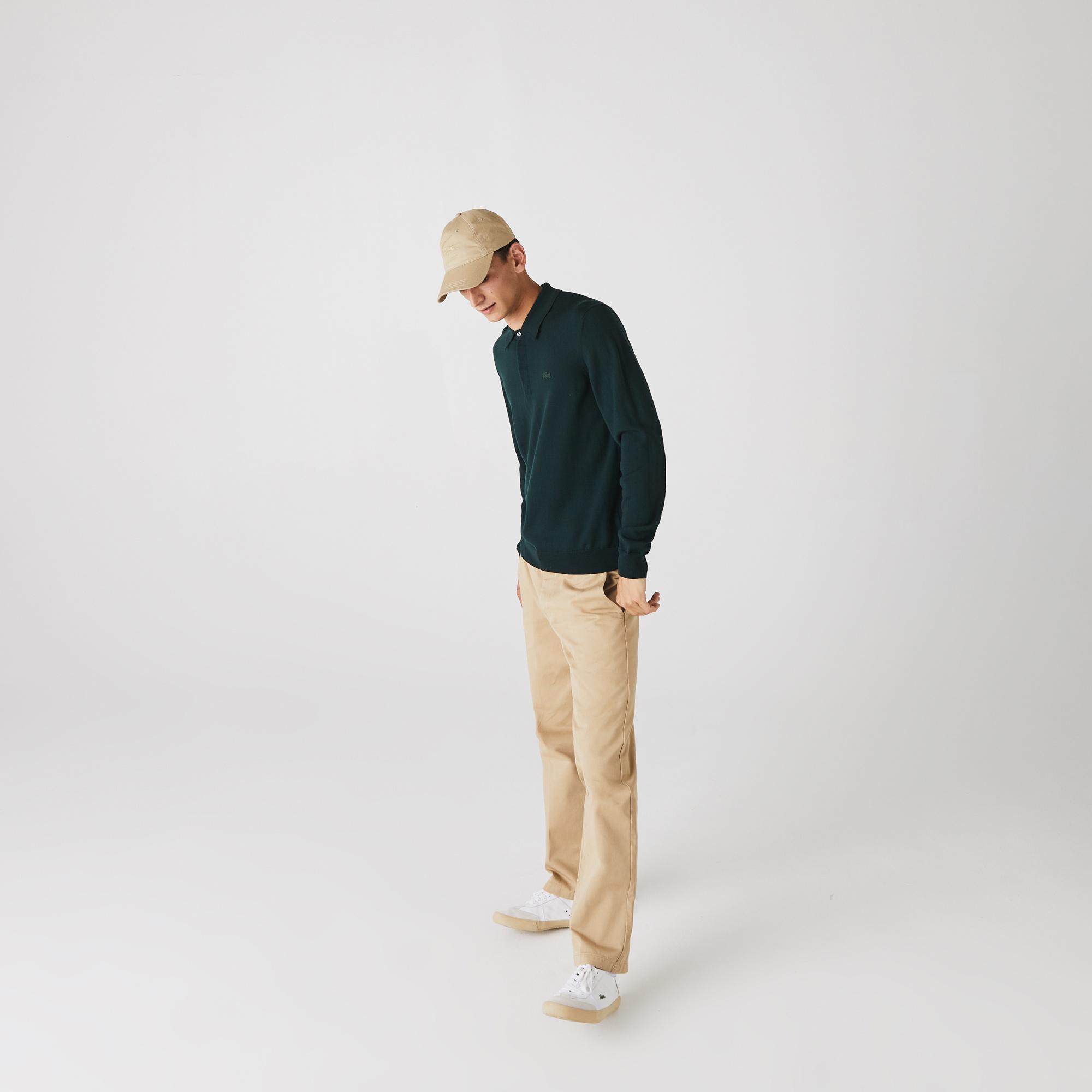 Lacoste Męski Sweter Polo Z Wełny Merino