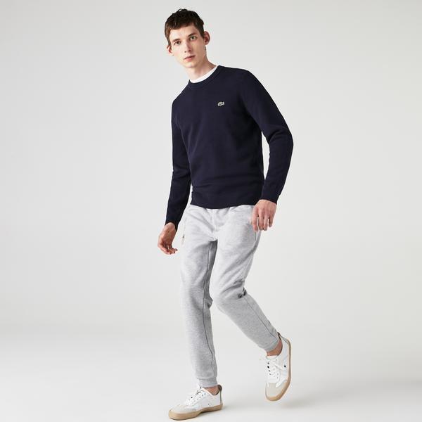 Lacoste Męski Sweter Z Piki Bawełny Organicznej Z Okrągłym Wycięciem Pod Szyją