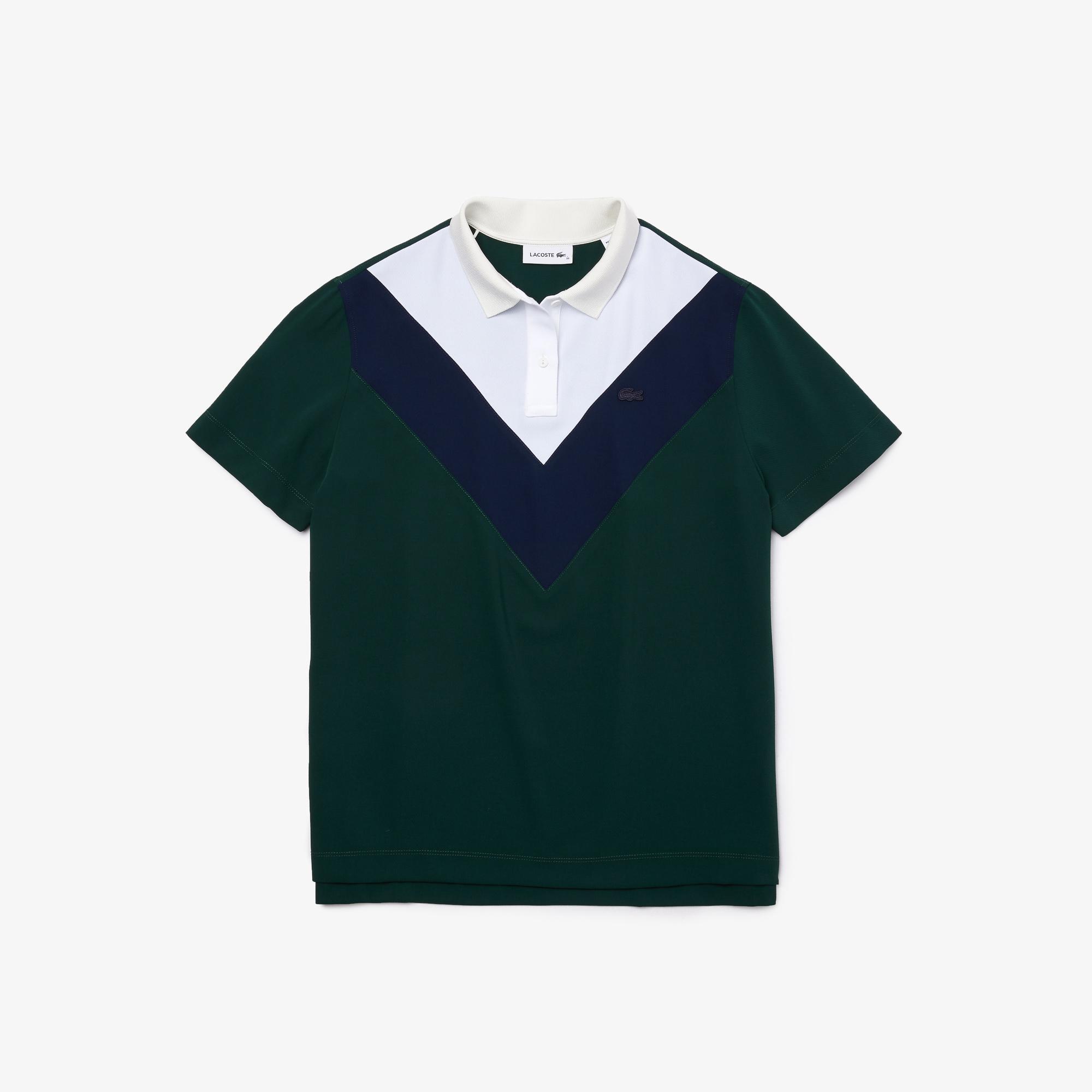Lacoste Damska Zwiewna Lekka Koszulka Polo W Bloki Kolorystyczne