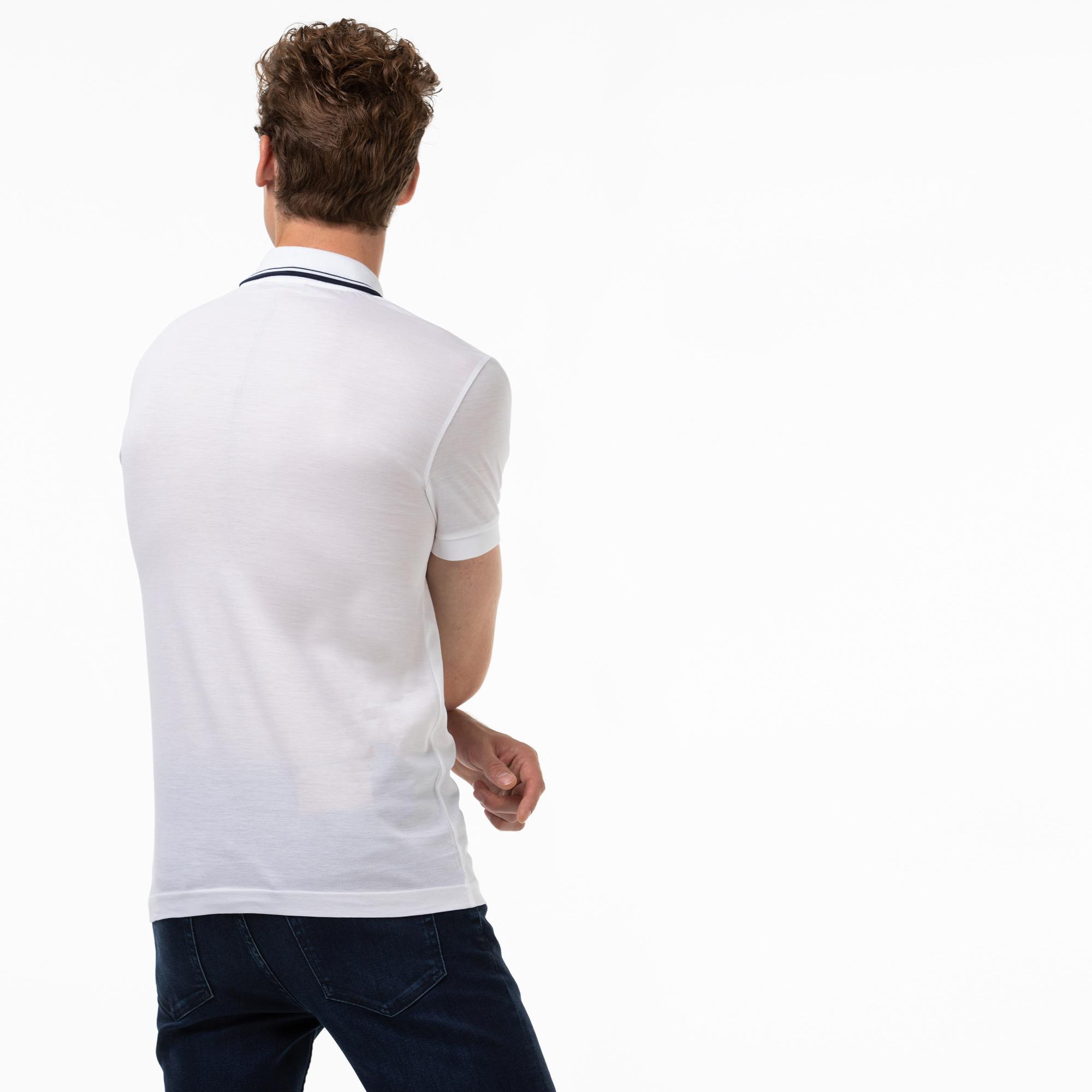 Lacoste Męska Koszulka Polo Slim Fit Z Kołnierzykiem Zapinanym Na Zamek