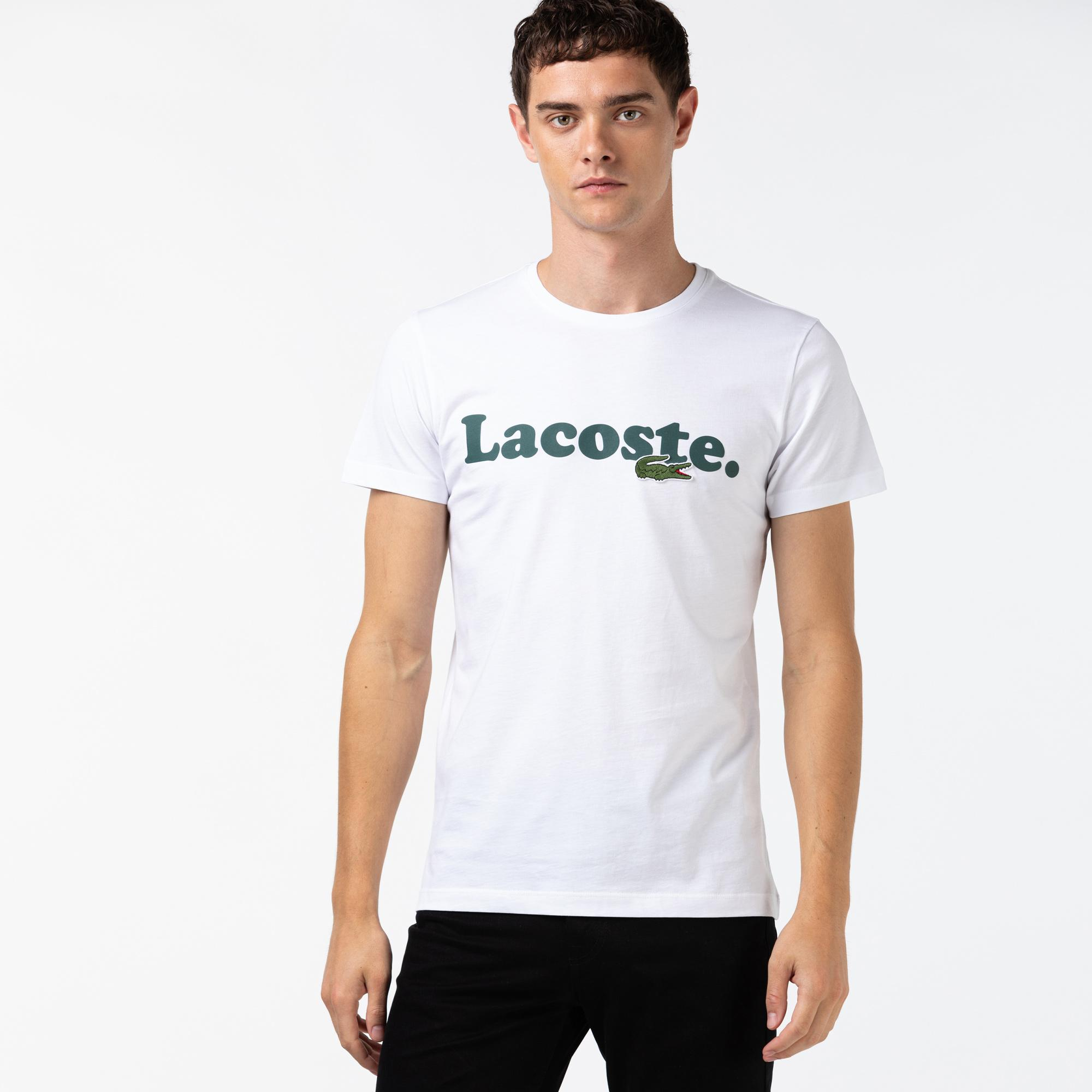 Lacoste Męski T-Shirt Bawełniany Z Logo Krokodyla