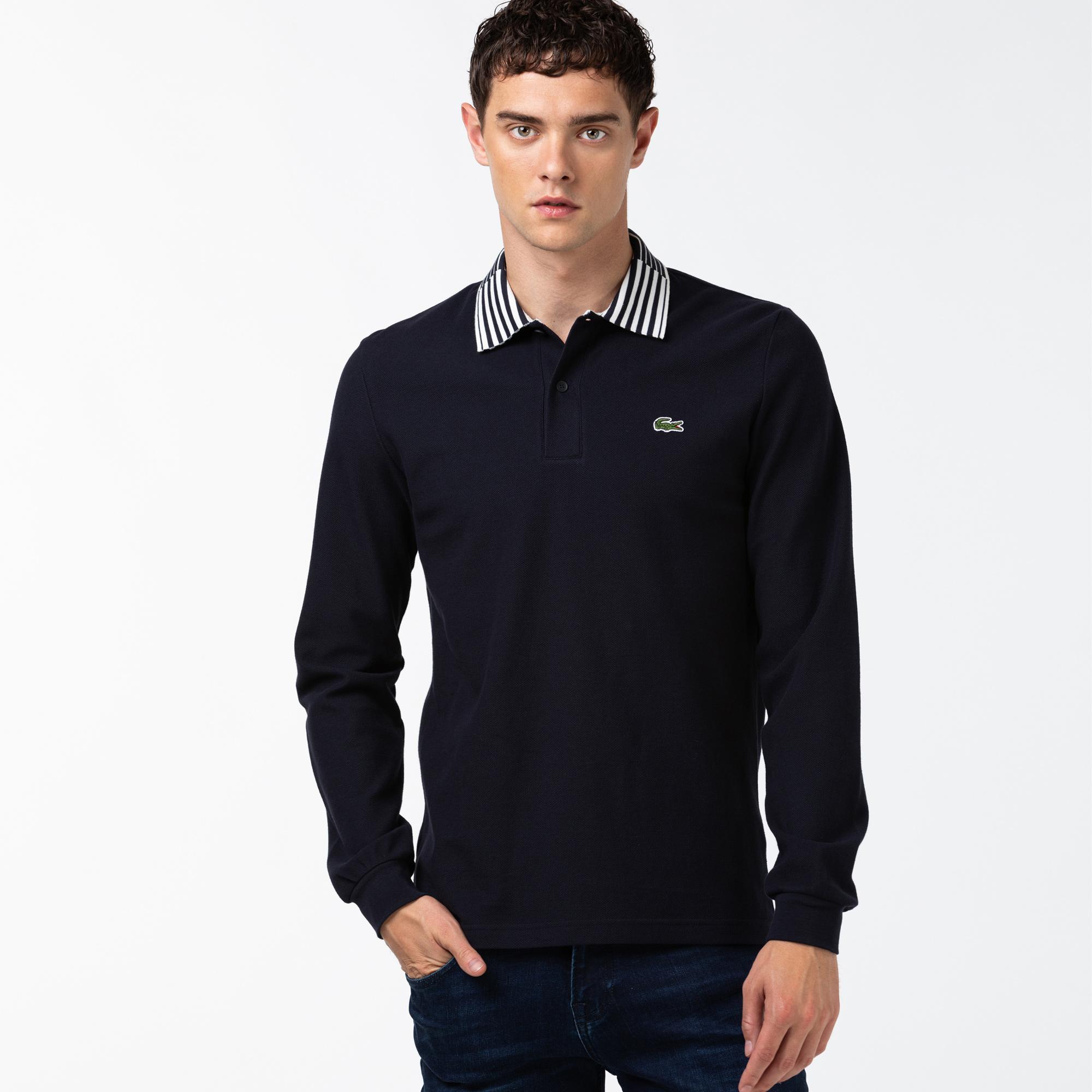 Lacoste Heritage Męska Bawełniana Koszulka Polo Slim Fit