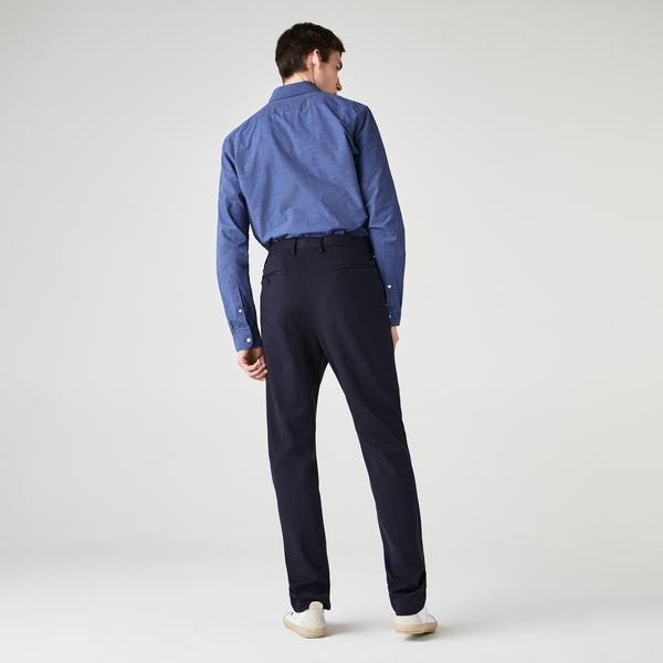 Lacoste Męska Bawełniana Koszula W Drobną Pepitkę Z Nadrukiem Slim Fit