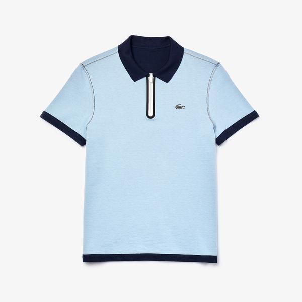 Lacoste Męska Dwustronna Koszulka Polo Z Kołnierzem Zapinanym Na Zamek Z Piki Regular Fit