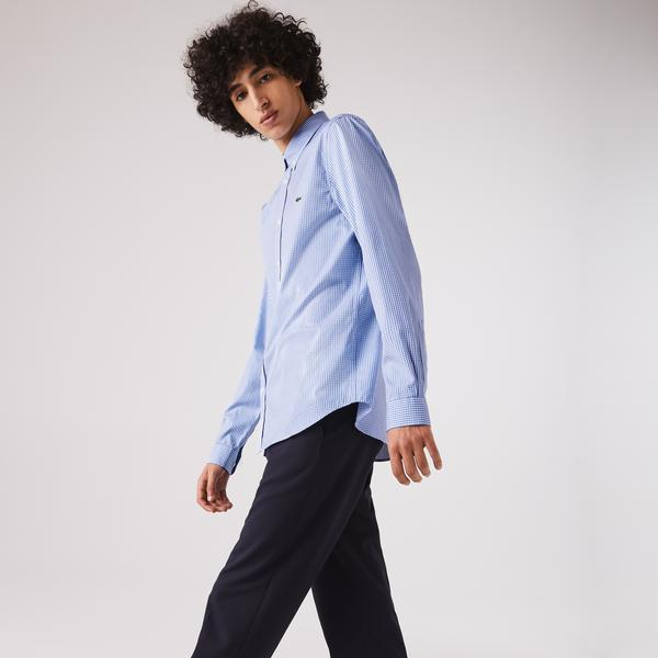 Lacoste Męska Bawełniana Koszula W Kratę Premium Regular Fit