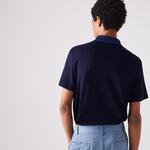 Lacoste Męska Koszulka Polo Z Miękkiej Bawełny Z Kontrastowym Kołnierzem Regular Fit