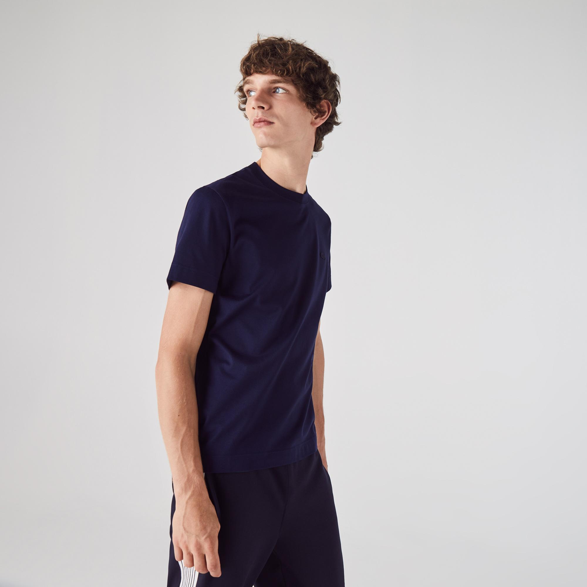 Lacoste Męski Bawełniany T-Shirt Z Okrągłym Wycięciem Pod Szyją