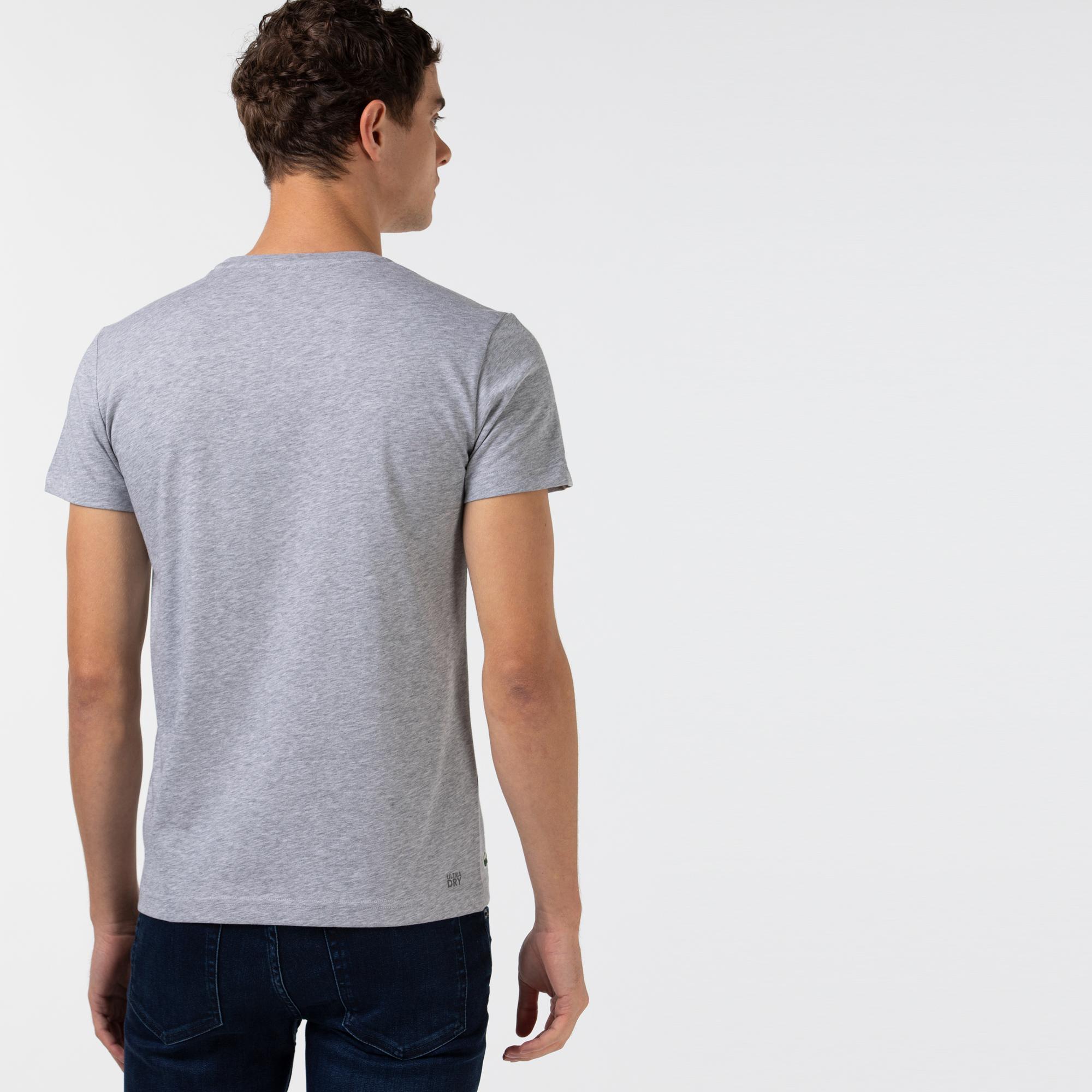 Lacoste Sport Męski T-Shirt Z Oddychającego Dżerseju Z Graficznym Nadrukiem