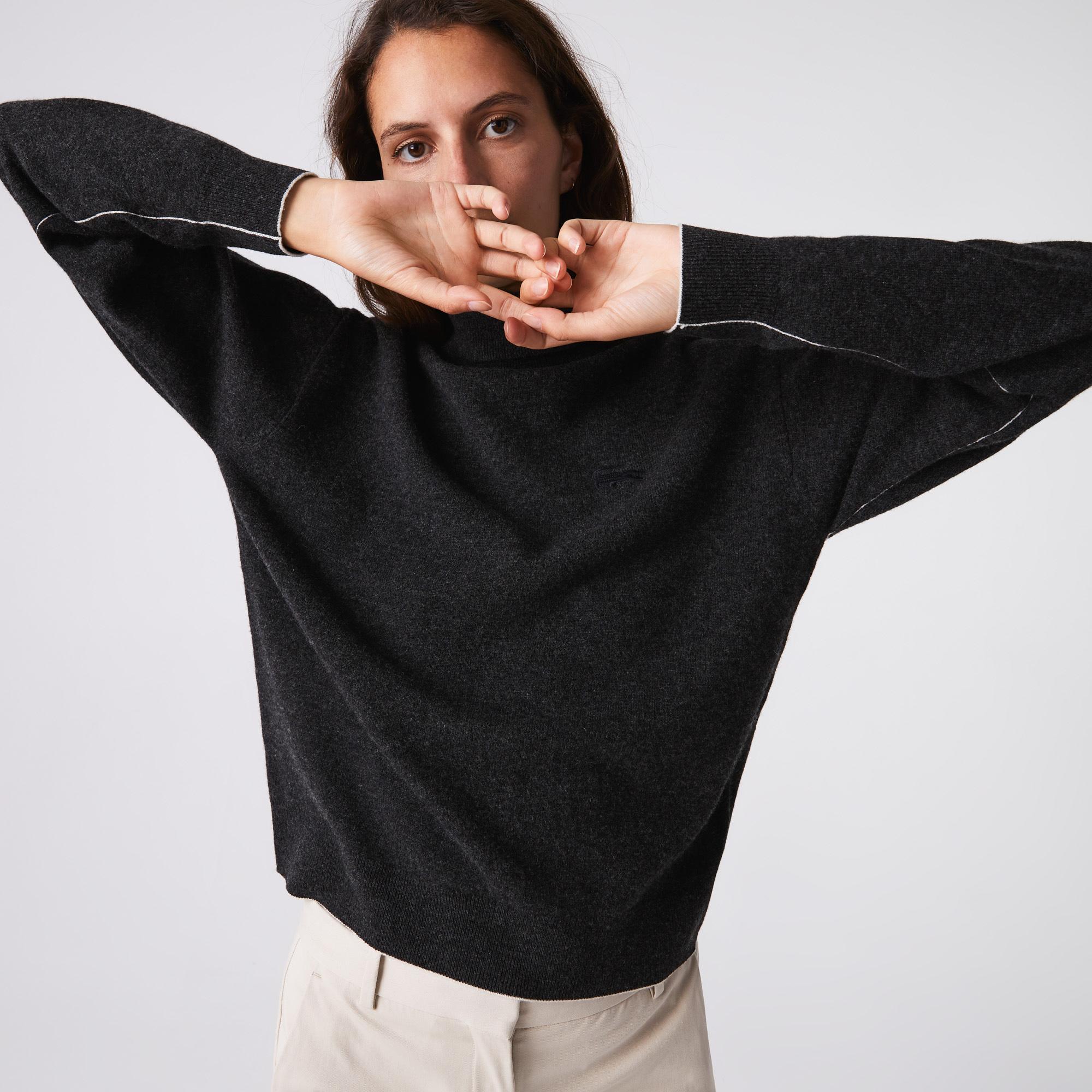 Lacoste Damski Wełniany Sweter Typu Golf