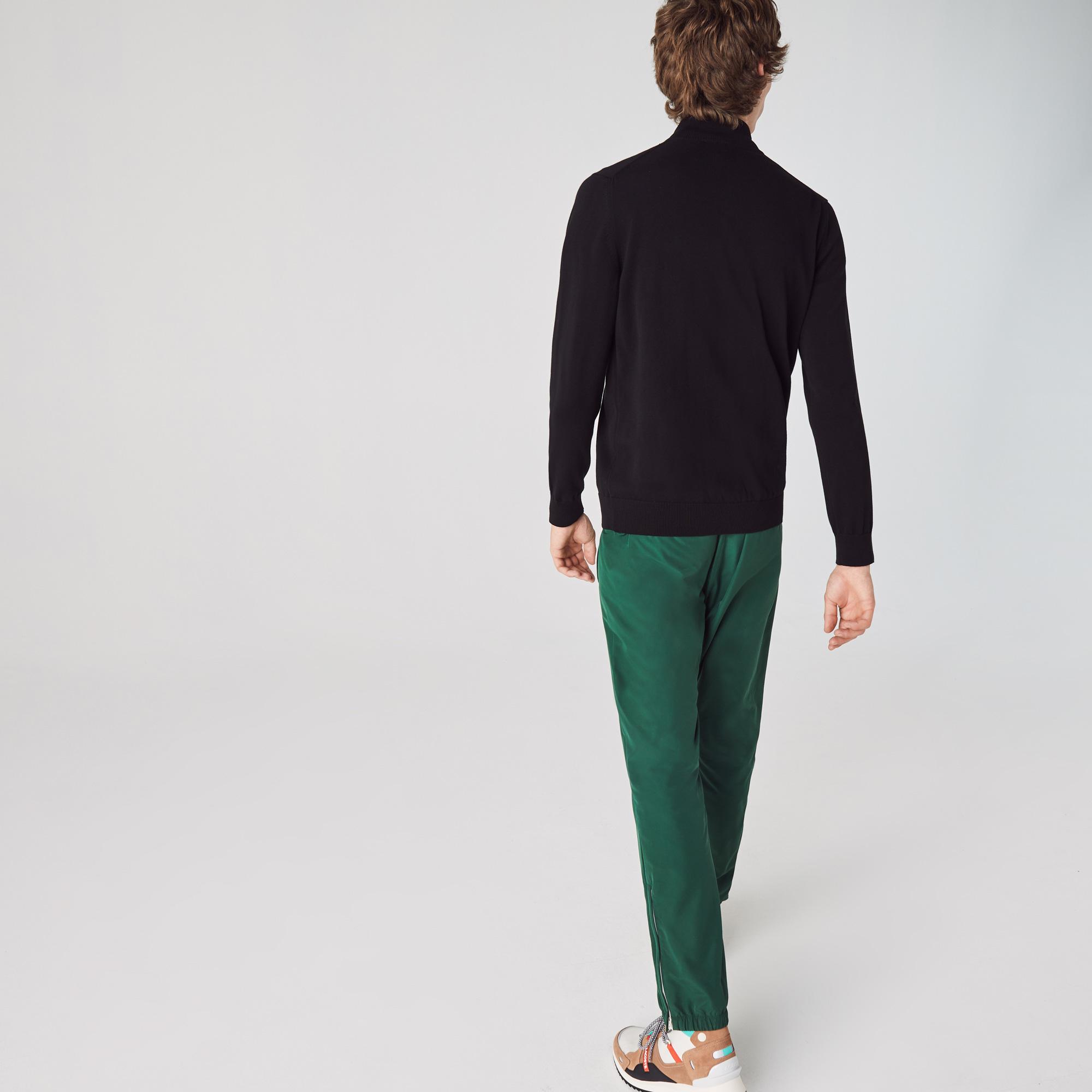 Lacoste Męski Zapinany Na Zamek Sweter Z Bawełny Organicznej Ze Stójką