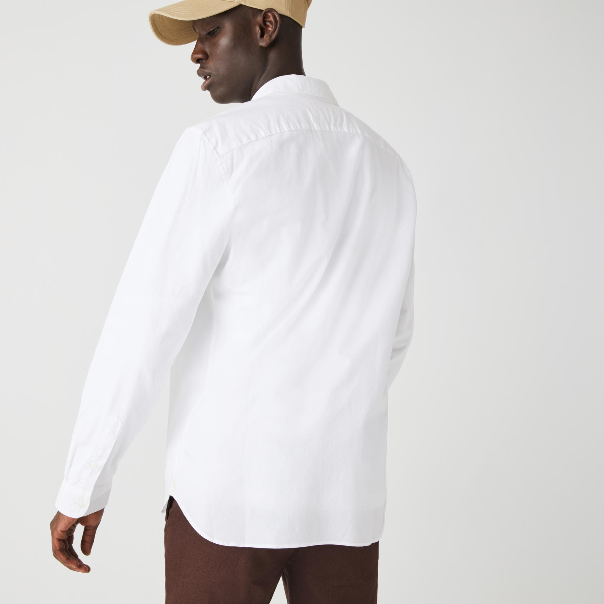 Lacoste Męska Rozciągliwa Koszula Z Bawełny Oxford Slim Fit
