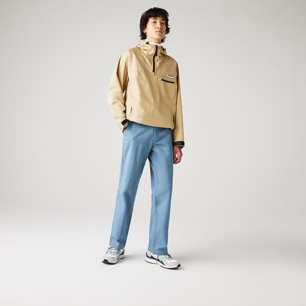 Lacoste Live Męskie Bawełniane Spodnie Typu Chino Z Zakładkami Standard Fit