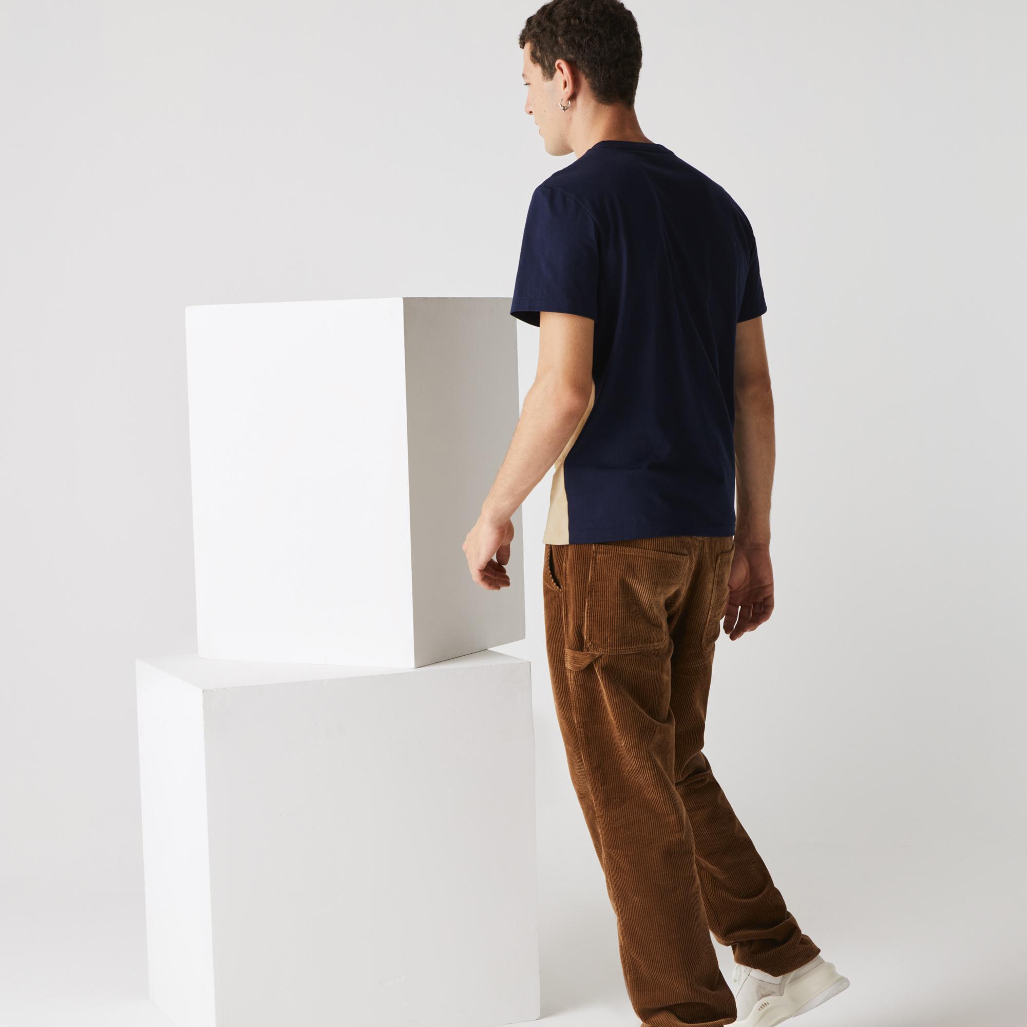 Lacoste Męski Bawełniany T-Shirt Z Blokiem Kolorystycznym