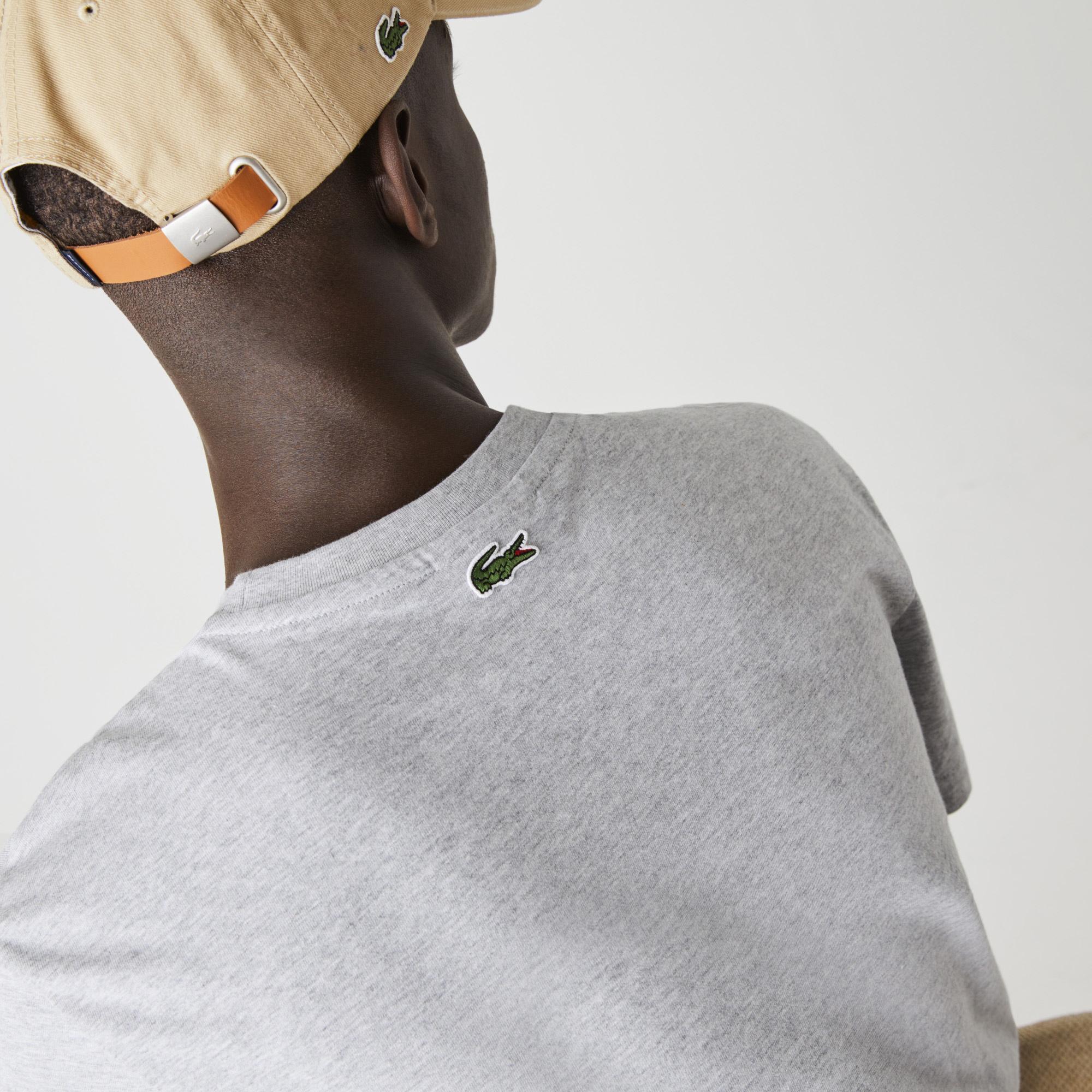 Lacoste Męski Bawełniany T-Shirt Z Nadrukowanym Logo