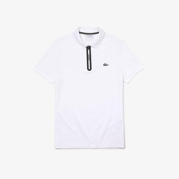 Lacoste Męska Ultralekka Koszulka Polo Z Kołnierzem Zapinanym Na Zamek Z Piki Slim Fit