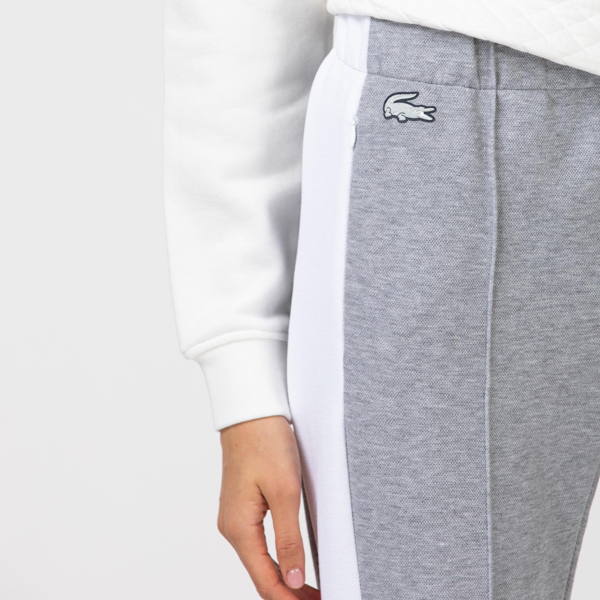 Lacoste Sport Damskie Spodnie Do Biegania Z Piki Z Kontrastową Taśmą