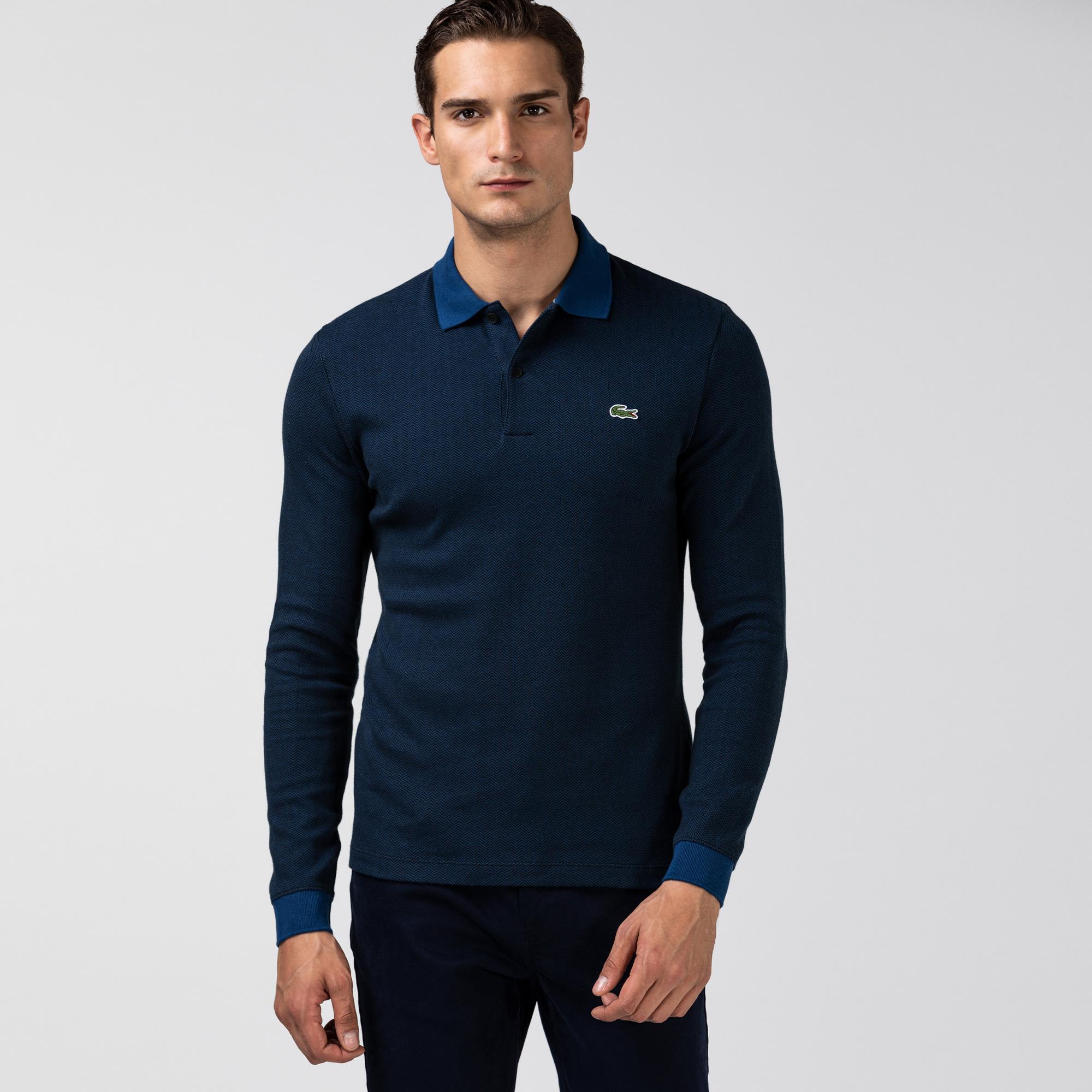 Lacoste Męska Bawełniana Koszulka Polo W Jodełkę Regular Fit