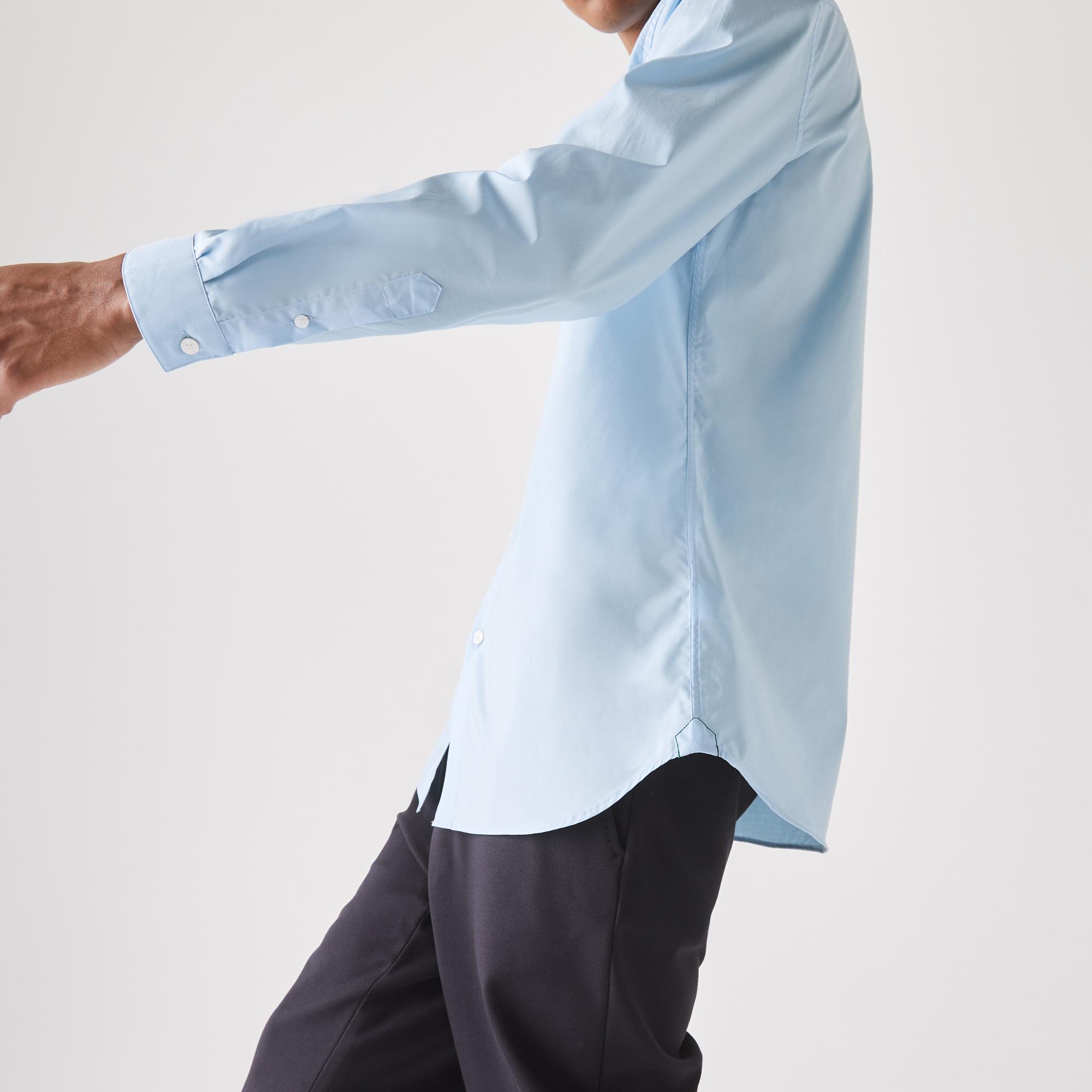 Lacoste Męska Rozciągliwa Koszula Z Popeliny Bawełnianej Slim Fit