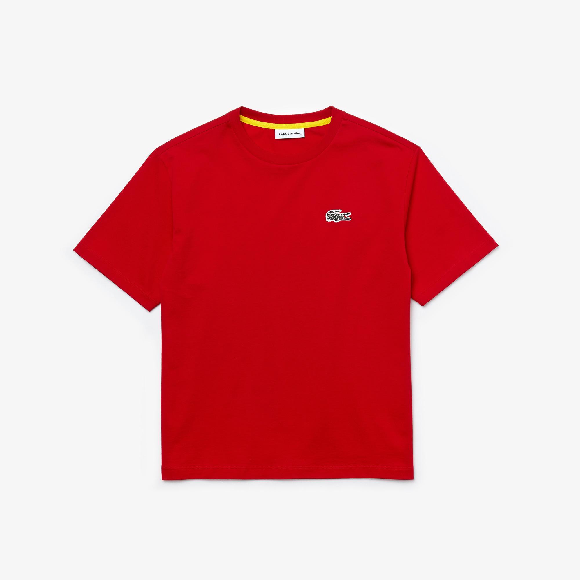 Lacoste x National Geographic X National Geographic Damski T-Shirt Z Bawełny