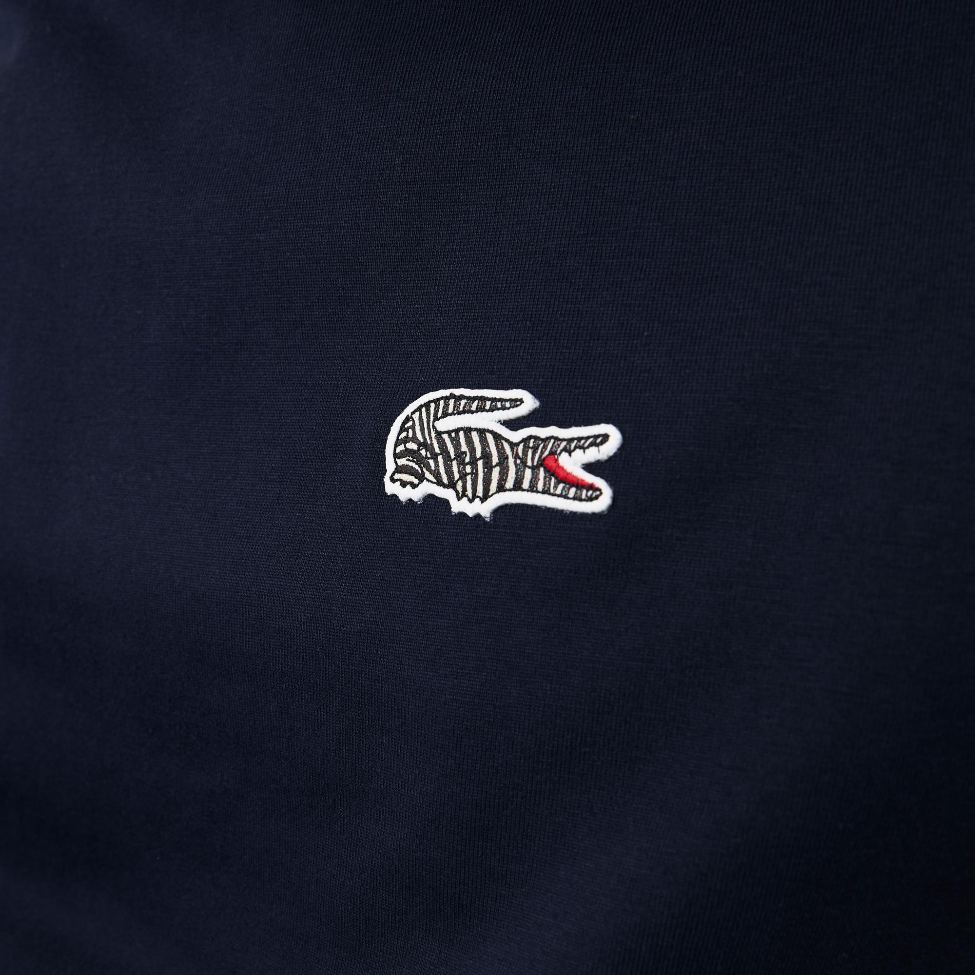 Lacoste x National Geographic X National Geographic Męski T-Shirt Z Organicznej Bawełny