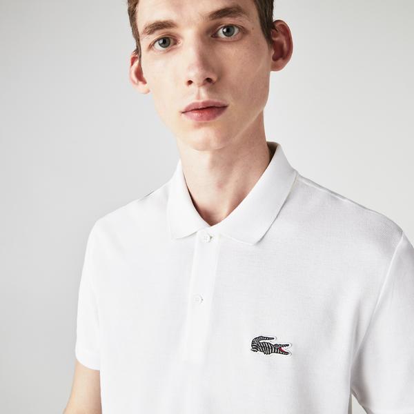 Lacoste x National Geographic Męska Koszulka Polo Z Piki Z Bawełny Organicznej