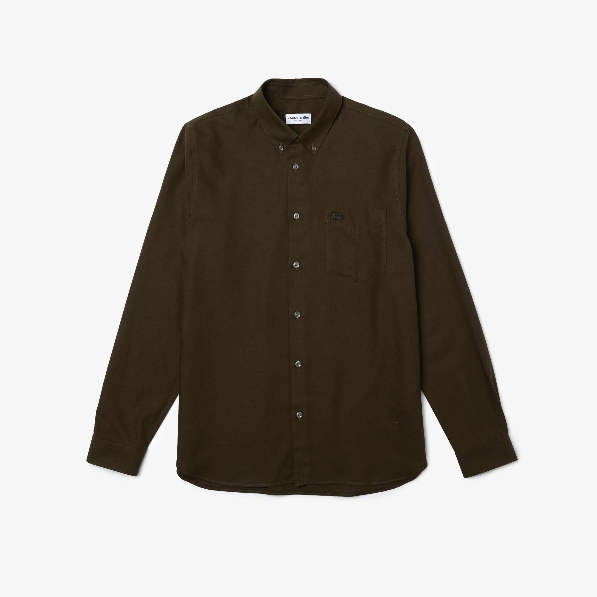 Lacoste Męska Wełniano-Bawełniana Koszula Regular Fit
