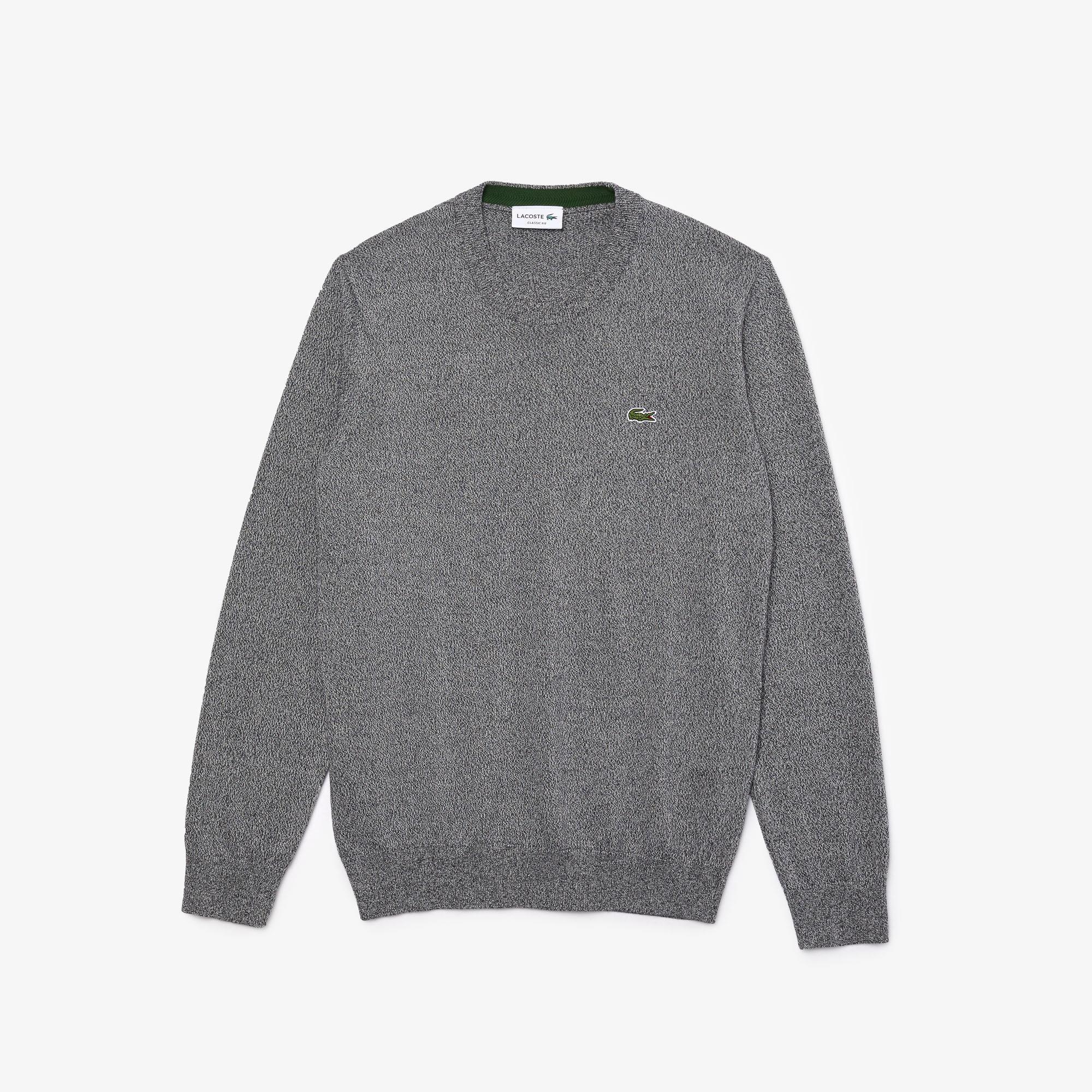 Lacoste Męski Sweter Z Bawełny Organicznej Z Okrągłym Wycięciem Pod Szyją