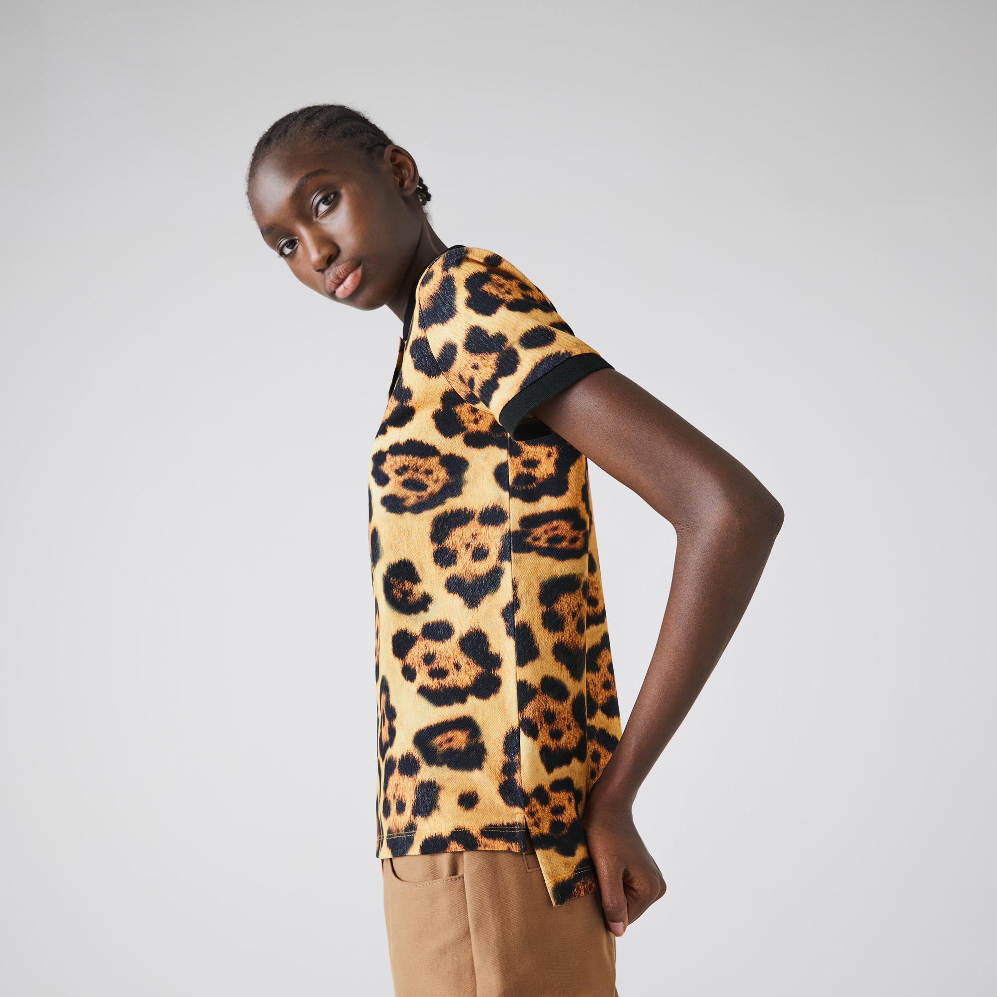 Lacoste X National Geographic Damska Koszulka Polo Z Motywem Zwierzęcym Z Piki