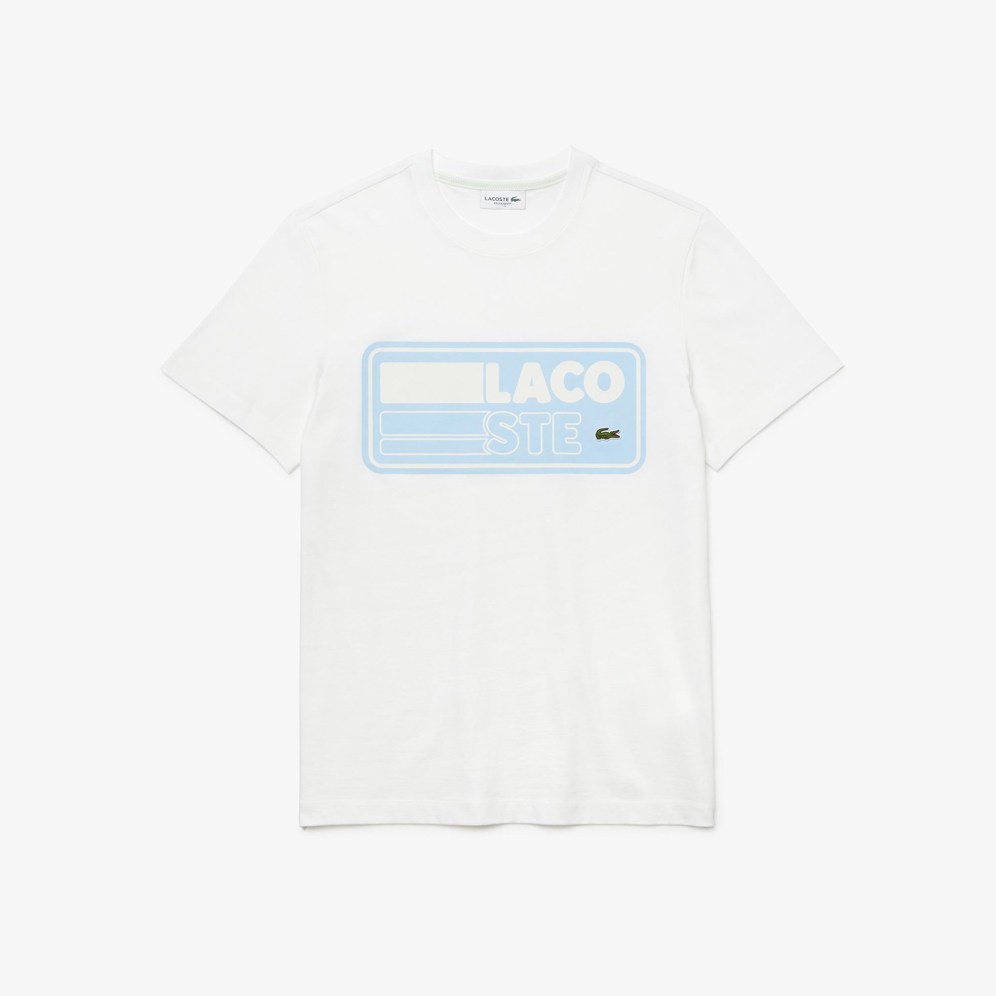 Lacoste Męski T-Shirt Bawełniany Z Nadrukowaną Naszywką