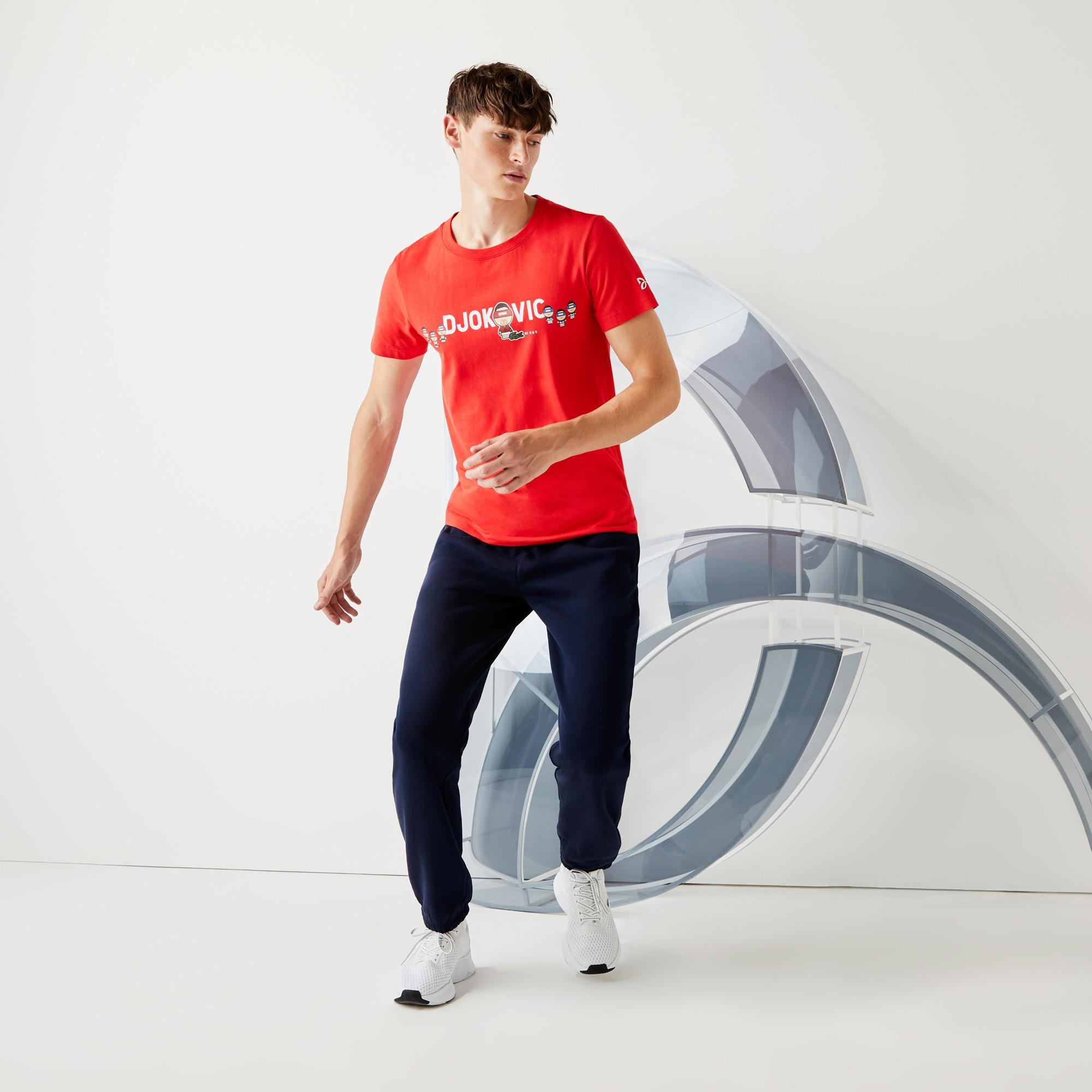 Lacoste Sport Przy Współpracy Z Youssef Sy T-Shirt Z Oddychającej Bawełny