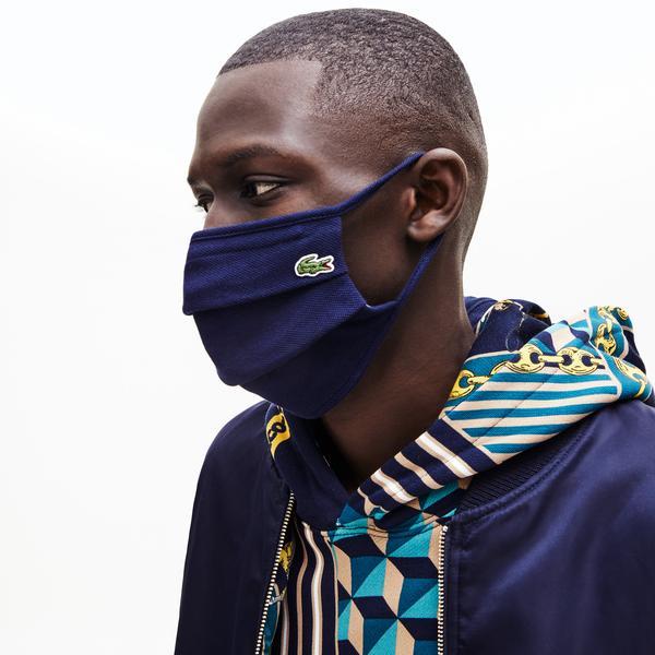 Lacoste L.12.12 maska ochronna do twarzy z bawełny piqué