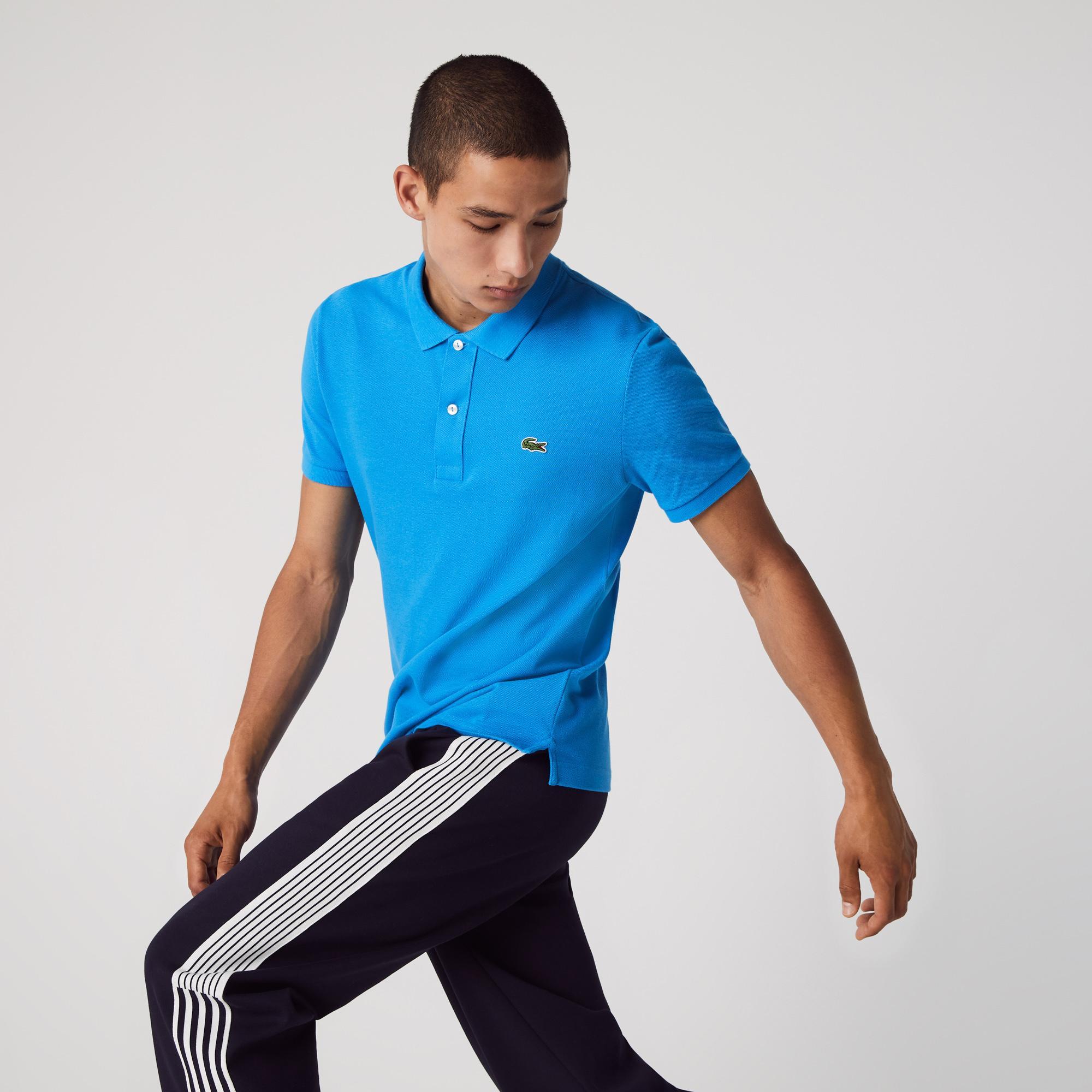 Lacoste Męska Koszulka Polo Slim Fit Z Drobnej Piki