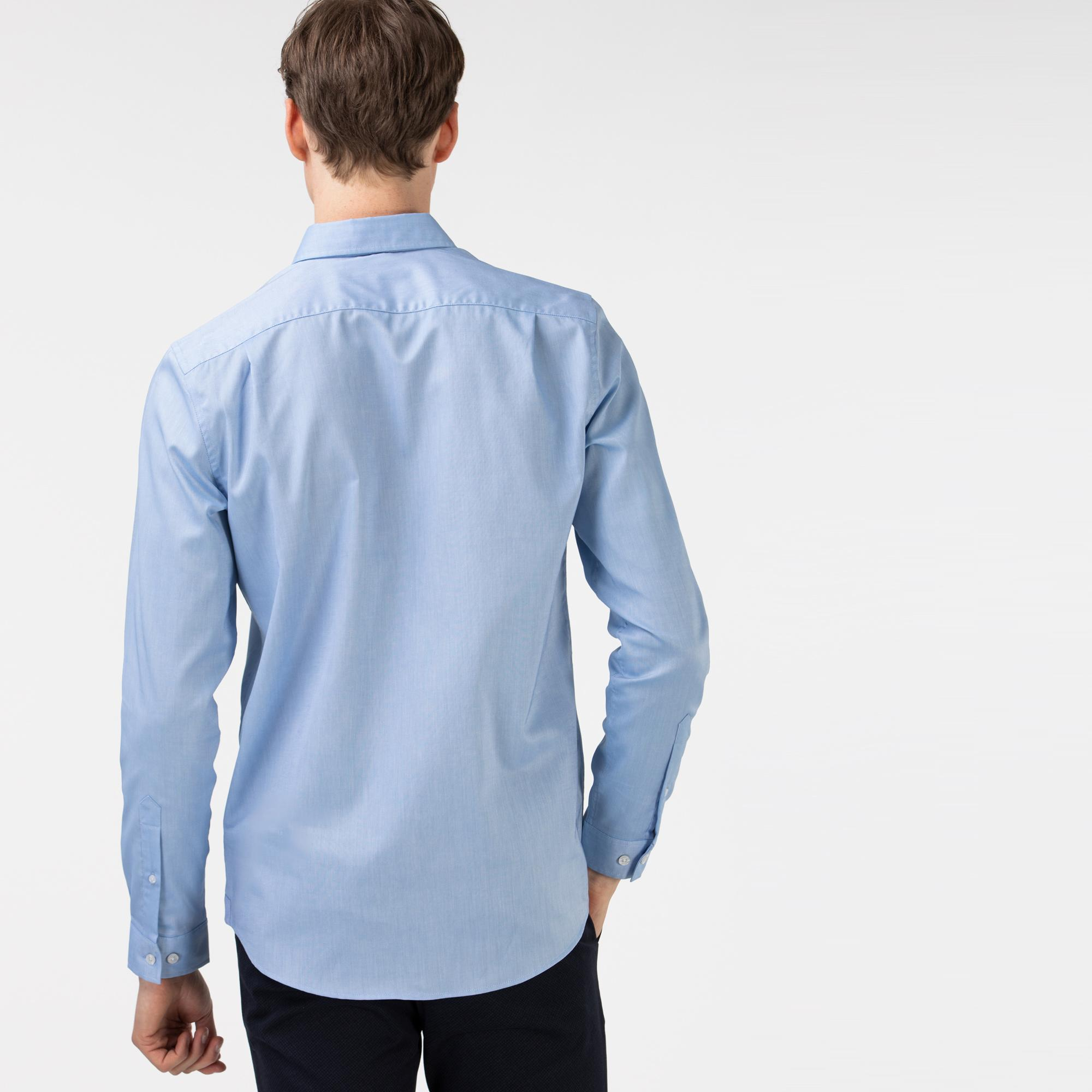 Lacoste Męska koszula Regular Fit z bawełny Oxford