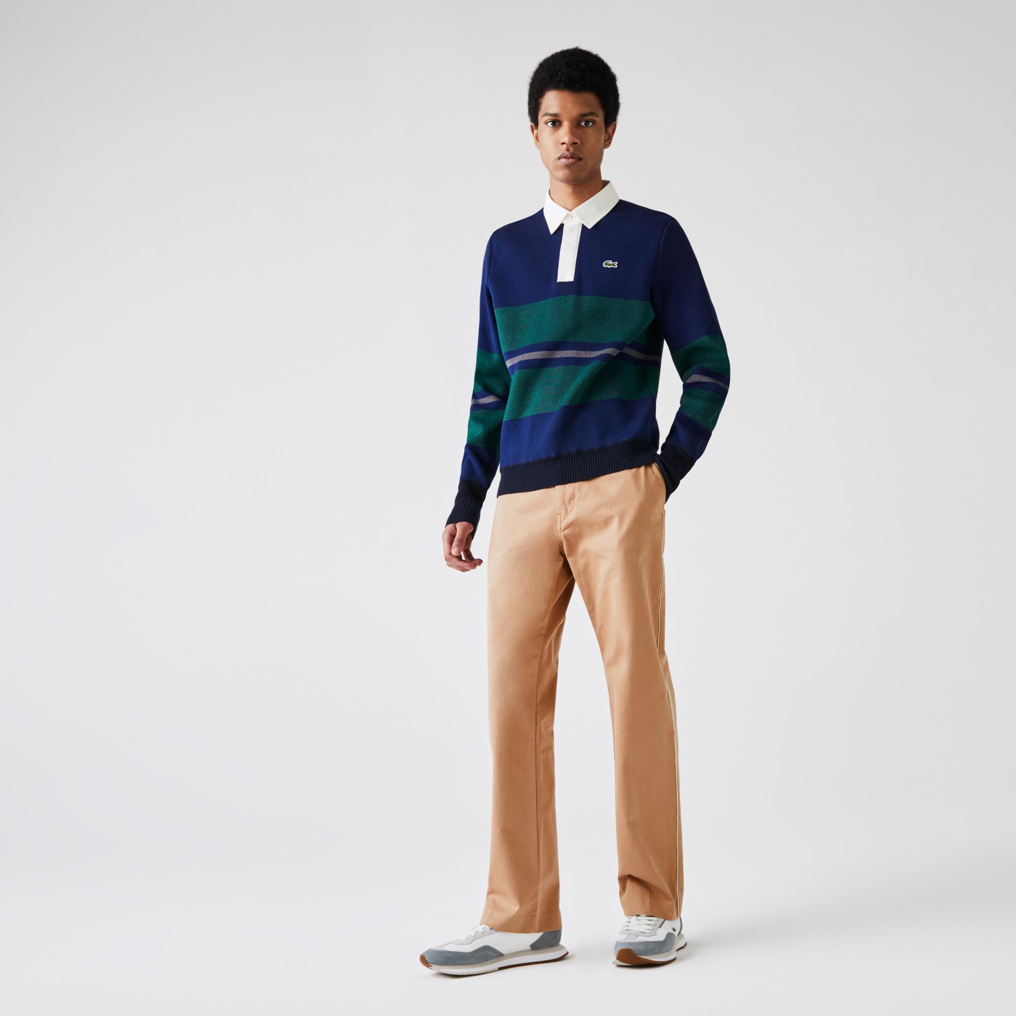 Lacoste L!VE Męskie spodnie typu chino z pięcioma kieszeniami
