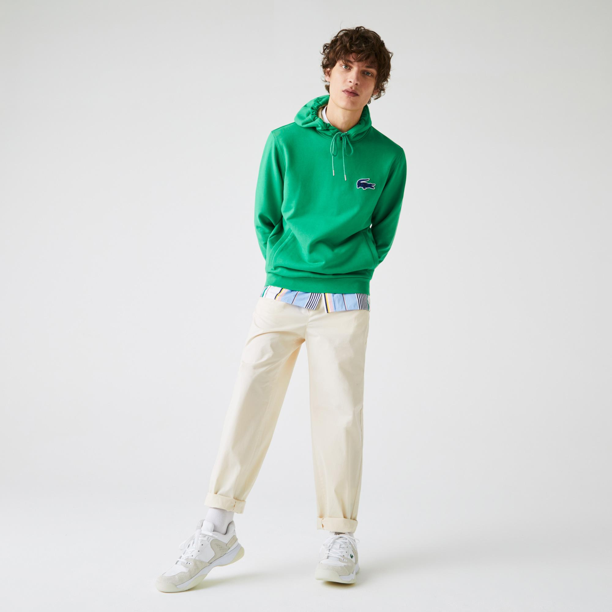 Lacoste Męskie lekkie spodnie typu chino z elastycznej popeliny