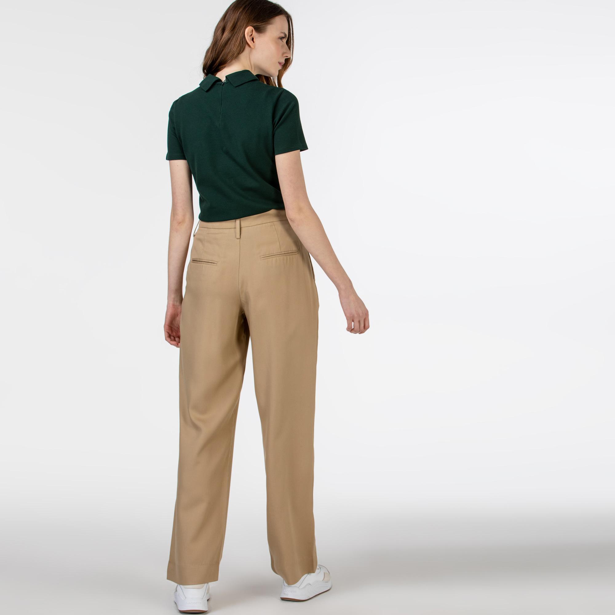 Lacoste Luźne spodnie damskie